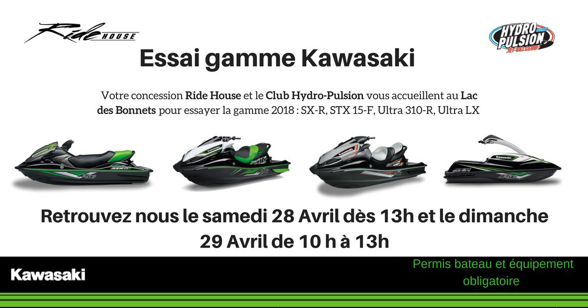 Essai gamme Kawasaki 2018